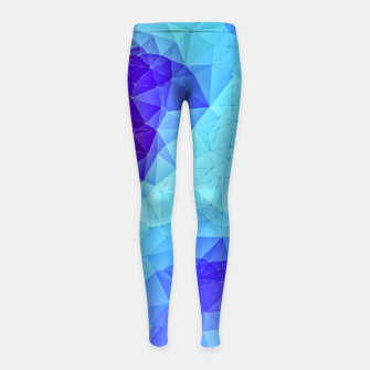 Thumbnail image of Blue Low Poly Design Girl's Leggings, Live Heroes