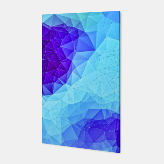 Thumbnail image of Blue Low Poly Design Canvas, Live Heroes