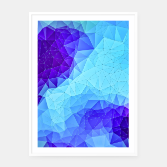 Thumbnail image of Blue Low Poly Design Framed poster, Live Heroes