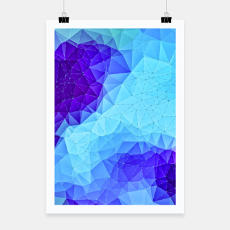 Thumbnail image of Blue Low Poly Design Poster, Live Heroes
