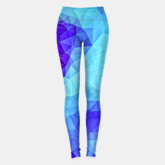 Miniatur Blue Low Poly Design Leggings, Live Heroes