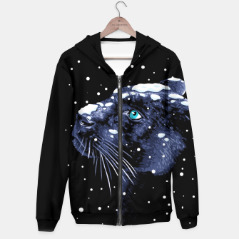 Thumbnail image of Snowing Panther Sudadera con capucha, Live Heroes