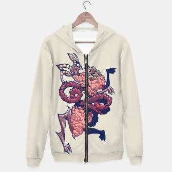 Thumbnail image of divided violet Hoodie, Live Heroes