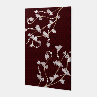 Miniatur Japanese traditional pattern & Baroque decoration Canvas, Live Heroes