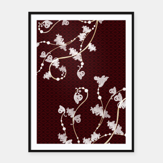 Miniatur Japanese traditional pattern & Baroque decoration Framed poster, Live Heroes