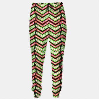 Miniature de image de Zig Zag Multicolored Ethnic Pattern Sweatpants, Live Heroes