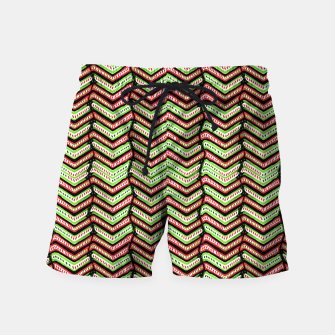 Thumbnail image of Zig Zag Multicolored Ethnic Pattern Swim Shorts, Live Heroes