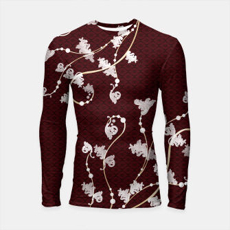 Miniatur Japanese traditional pattern & Baroque decoration Longsleeve Rashguard , Live Heroes