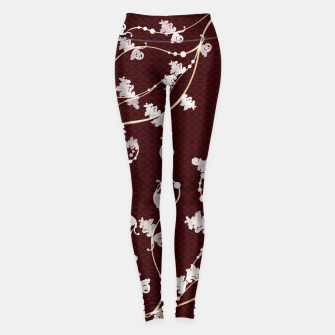 Miniatur Japanese traditional pattern & Baroque decoration Leggings, Live Heroes