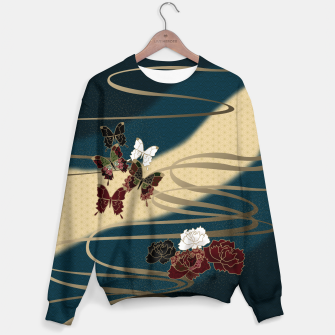 Miniatur Japanesque butterfly & flower Sweater, Live Heroes