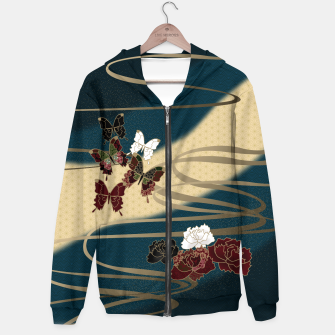 Miniatur Japanesque butterfly & flower Hoodie, Live Heroes