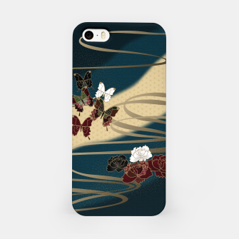 Miniatur Japanesque butterfly & flower iPhone Case, Live Heroes