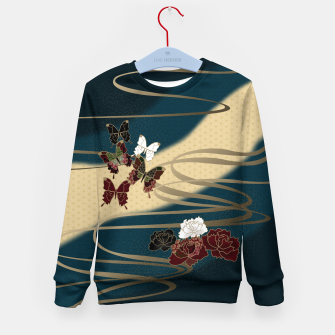 Miniatur Japanesque butterfly & flower Kid's Sweater, Live Heroes