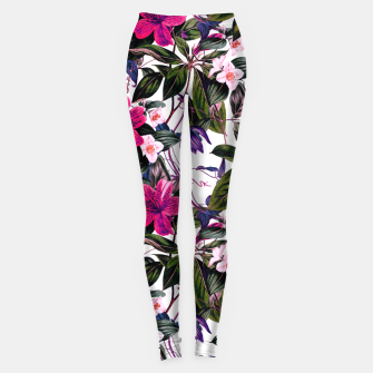 Thumbnail image of Pattern antique botanical flowers01 Leggings, Live Heroes