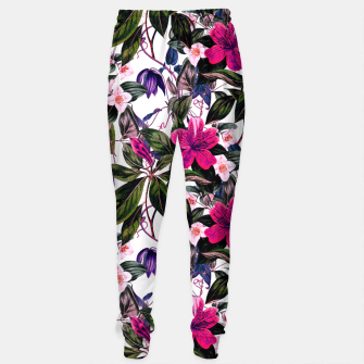 Thumbnail image of Pattern antique botanical flowers01 Pantalones de chándal, Live Heroes