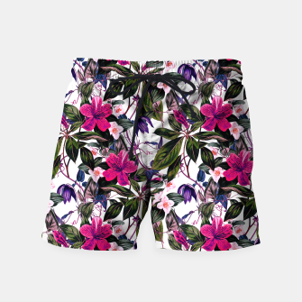 Thumbnail image of Pattern antique botanical flowers01 Pantalones de baño, Live Heroes