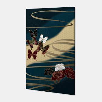 Miniatur Japanesque butterfly & flower Canvas, Live Heroes