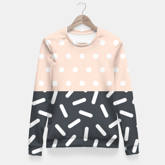 Miniatur Random Geo - Dots and Dashes Fitted Waist Sweater, Live Heroes