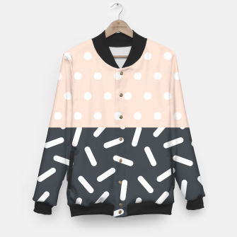 Miniatur Random Geo - Dots and Dashes Baseball Jacket, Live Heroes