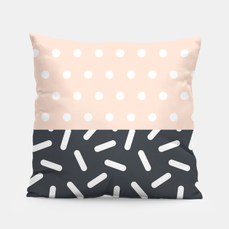 Miniatur Random Geo - Dots and Dashes Pillow, Live Heroes