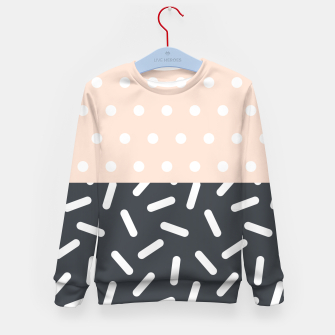 Miniatur Random Geo - Dots and Dashes Kid's Sweater, Live Heroes