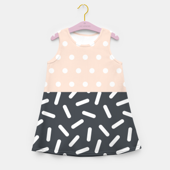 Miniatur Random Geo - Dots and Dashes Girl's Summer Dress, Live Heroes
