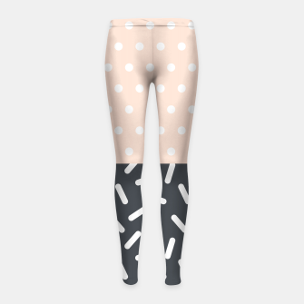 Miniatur Random Geo - Dots and Dashes Girl's Leggings, Live Heroes