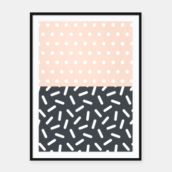 Miniatur Random Geo - Dots and Dashes Framed poster, Live Heroes