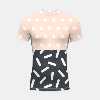 Miniatur Random Geo - Dots and Dashes Shortsleeve Rashguard, Live Heroes