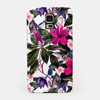 Thumbnail image of Pattern antique botanical flowers01 Carcasa por Samsung, Live Heroes