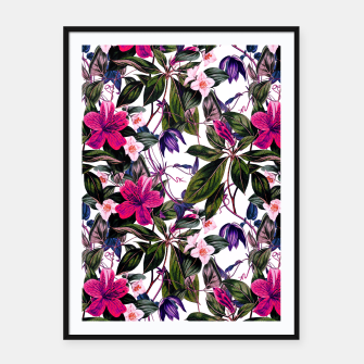 Thumbnail image of Pattern antique botanical flowers01 Cartel con marco, Live Heroes