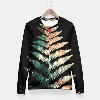 Thumbnail image of Watercolour Fern Leaf Fitted Waist Sweater, Live Heroes