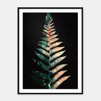 Thumbnail image of Watercolour Fern Leaf Framed poster, Live Heroes
