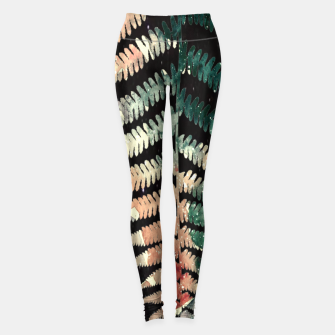 Miniatur Watercolour Fern Leaf Leggings, Live Heroes