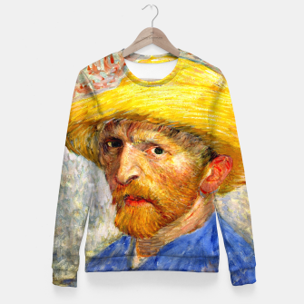 Miniaturka Vincent Van Gogh-Self-With Straw Hat 1887 Fitted Waist Sweater, Live Heroes