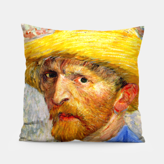 Miniaturka Vincent Van Gogh-Self-With Straw Hat 1887 Pillow, Live Heroes