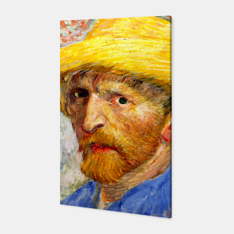 Miniaturka Vincent Van Gogh-Self-With Straw Hat 1887 Canvas, Live Heroes