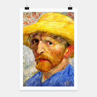 Miniaturka Vincent Van Gogh-Self-With Straw Hat 1887 Poster, Live Heroes