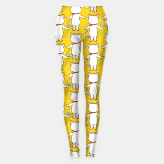 Thumbnail image of White cat your write face Leggings, Live Heroes