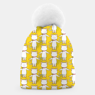 Thumbnail image of White cat your write face Beanie, Live Heroes