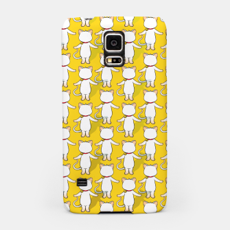 Thumbnail image of White cat your write face Samsung Case, Live Heroes