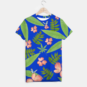 Thumbnail image of Leaves on Blue T-shirt, Live Heroes