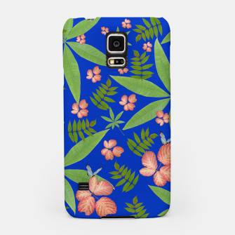 Thumbnail image of Leaves on Blue Samsung Case, Live Heroes