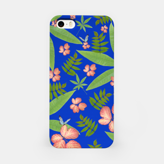 Thumbnail image of Leaves on Blue iPhone Case, Live Heroes