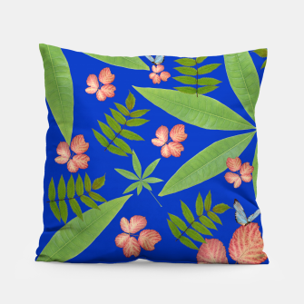Thumbnail image of Leaves on Blue Pillow, Live Heroes