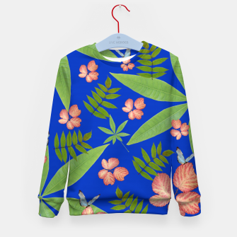 Thumbnail image of Leaves on Blue Kid's Sweater, Live Heroes