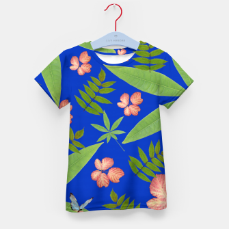 Thumbnail image of Leaves on Blue Kid's T-shirt, Live Heroes