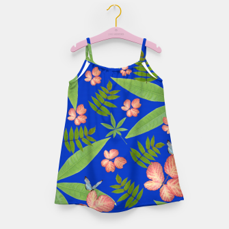 Thumbnail image of Leaves on Blue Girl's Dress, Live Heroes