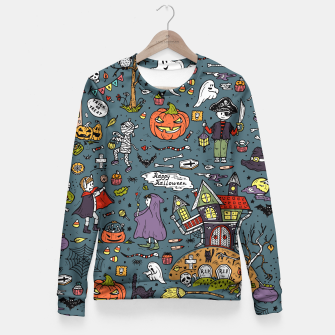 Thumbnail image of Halloween Fitted Waist Sweater, Live Heroes