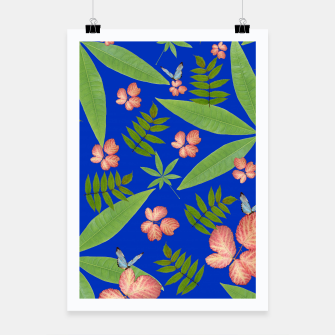 Thumbnail image of Leaves on Blue Poster, Live Heroes